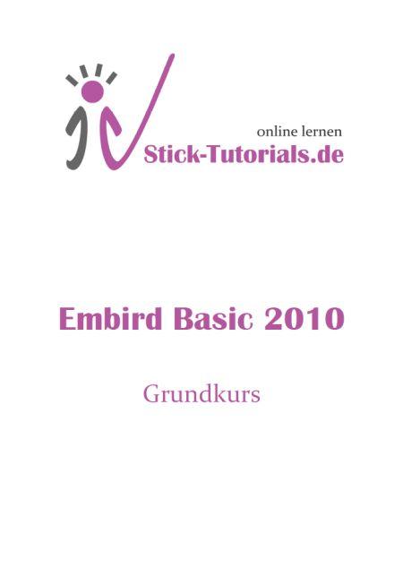 Der Embird Basic Grundkurs ist online!