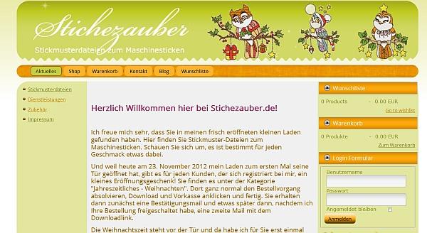 Shop-Eröffnung bei Stichezauber.de