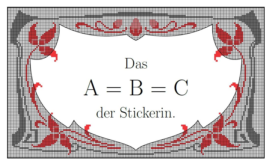 Das ABC der Stickerin