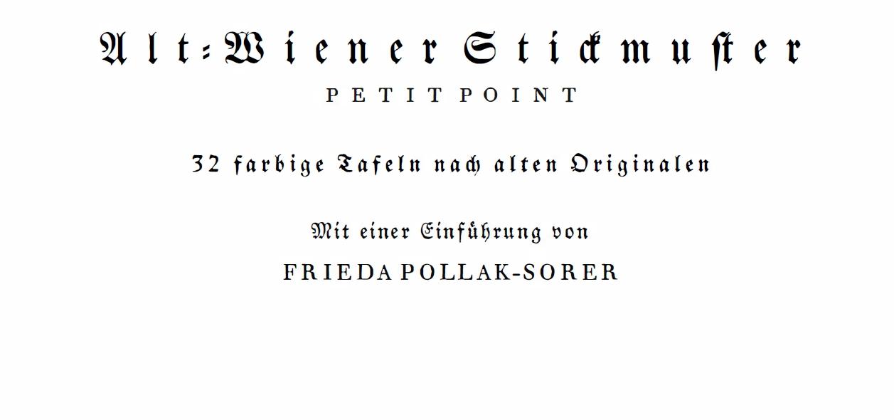 Alt-Wiener Stickmuster