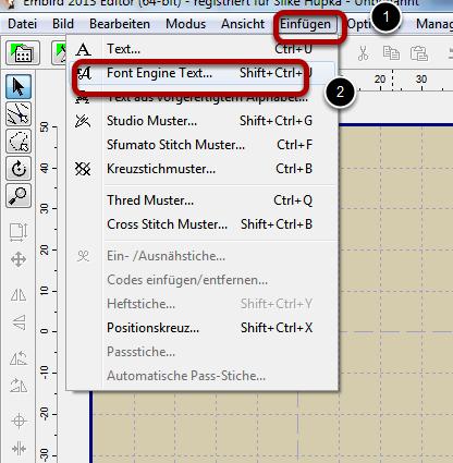 Wie kann ich mit Embird FontEngine schnell ein Ziffernblatt digitalisieren?
