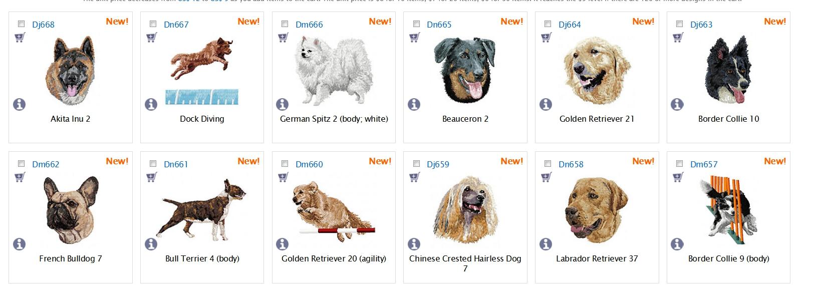 Neue Hunde-Stickdateien