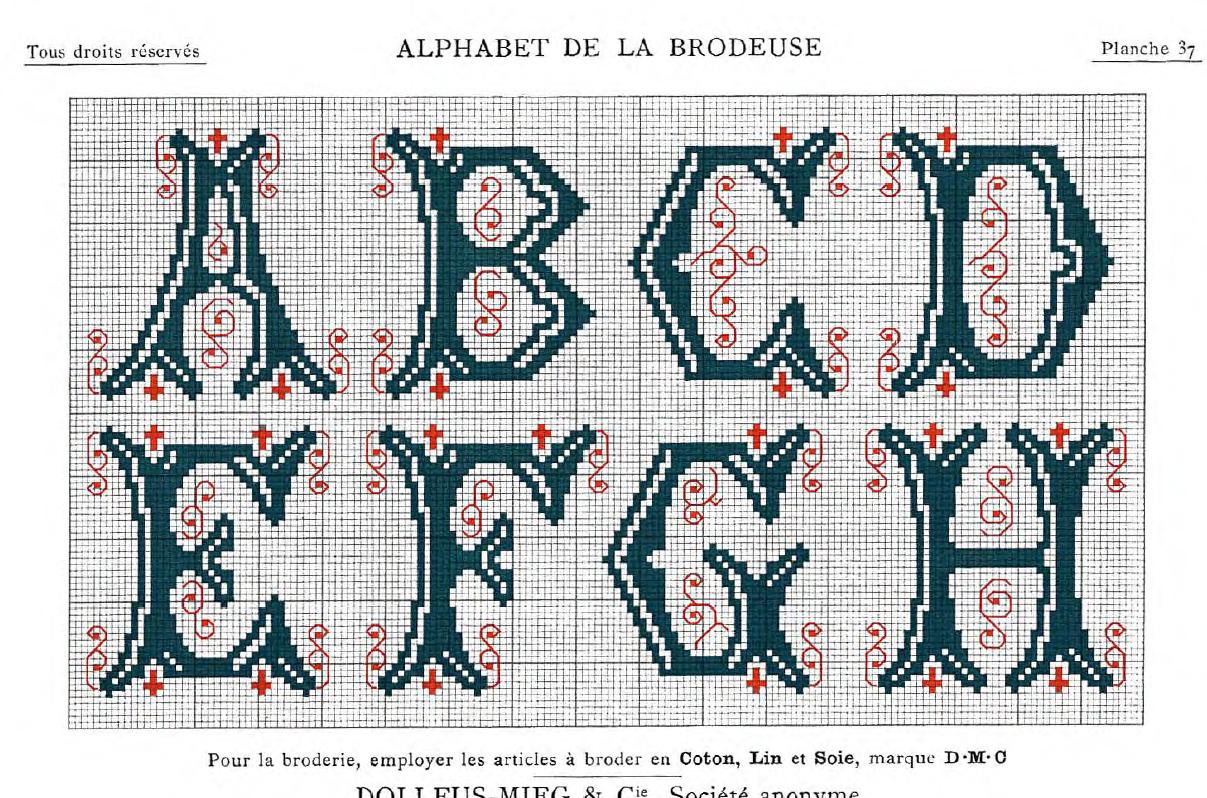 Freebie: Dillmonts Kreuzstich-Alphabete