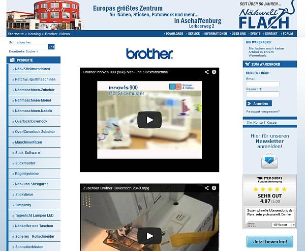 Videos von Stickmaschinen-Herstellern