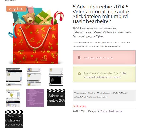 Advents-Freebie – der erste Teil ist online!