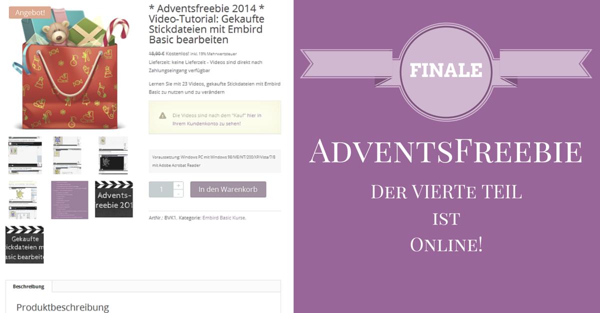 Fi-na-le! Der vierte Teil vom Adventsfreebie ist online!