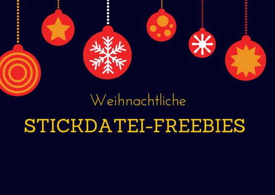 3 weihnachtliche Stickdatei-Freebies