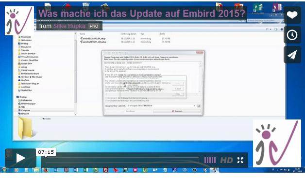 Neues Kundenvideo: Wie geht das mit dem Update auf Embird 2015