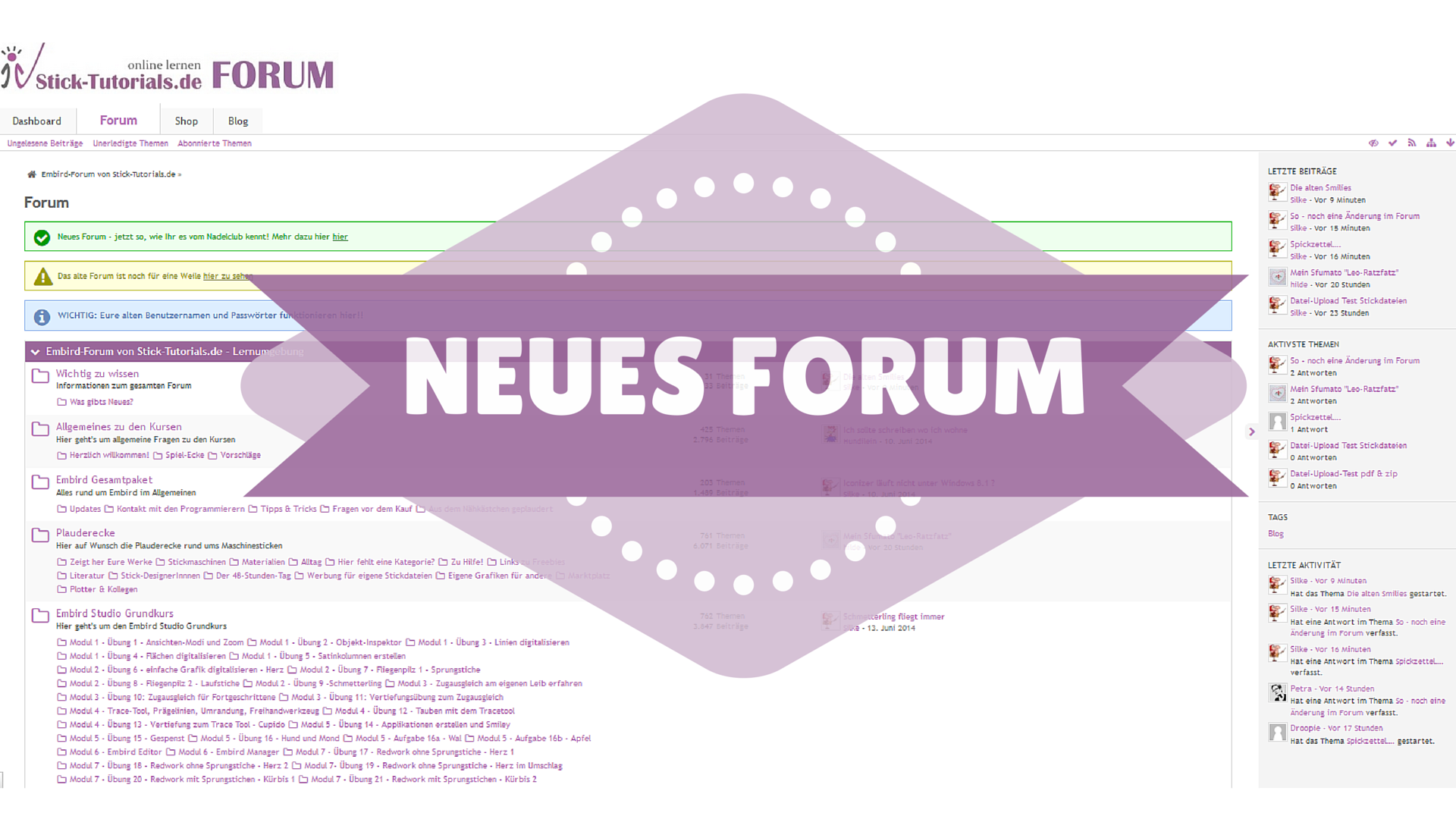 Neues Forum!