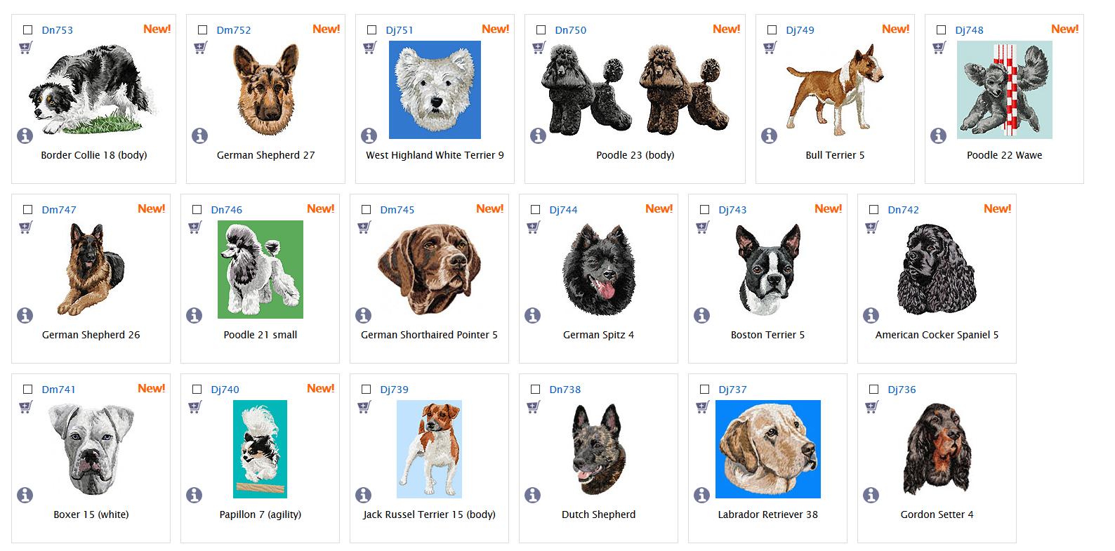 Neue Hunde-Dateien bei Embird
