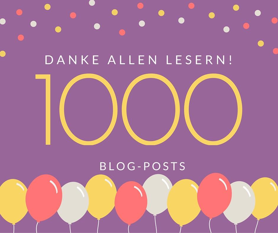 1000 Blogposts!