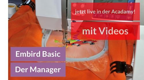 Jetzt live: Der neue Kurs zum Embird Manager