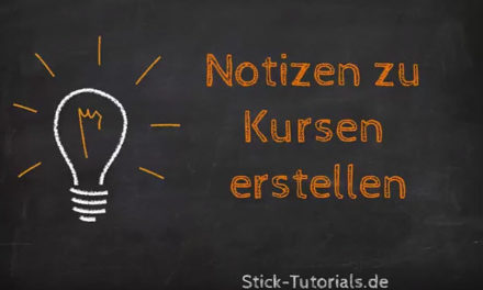 Stick-Tutorials.Academy: Notizen zu Kursen