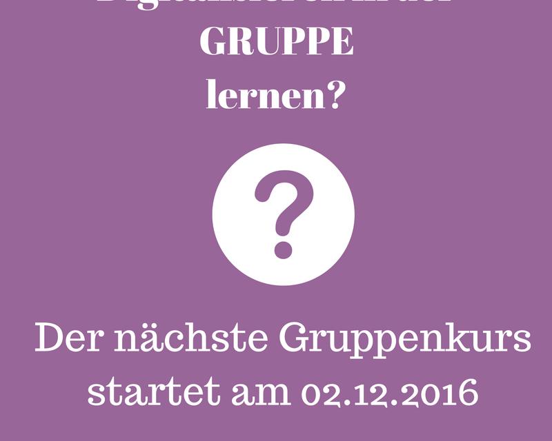 Neuer Gruppenkurs startet am 02.12.2016