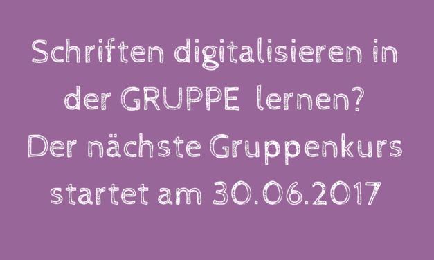 """Neuer Gruppenkurs """"Schriften, Texte und Monogramme mit Embird FontEngine"""" startet am 30.06.2017"""