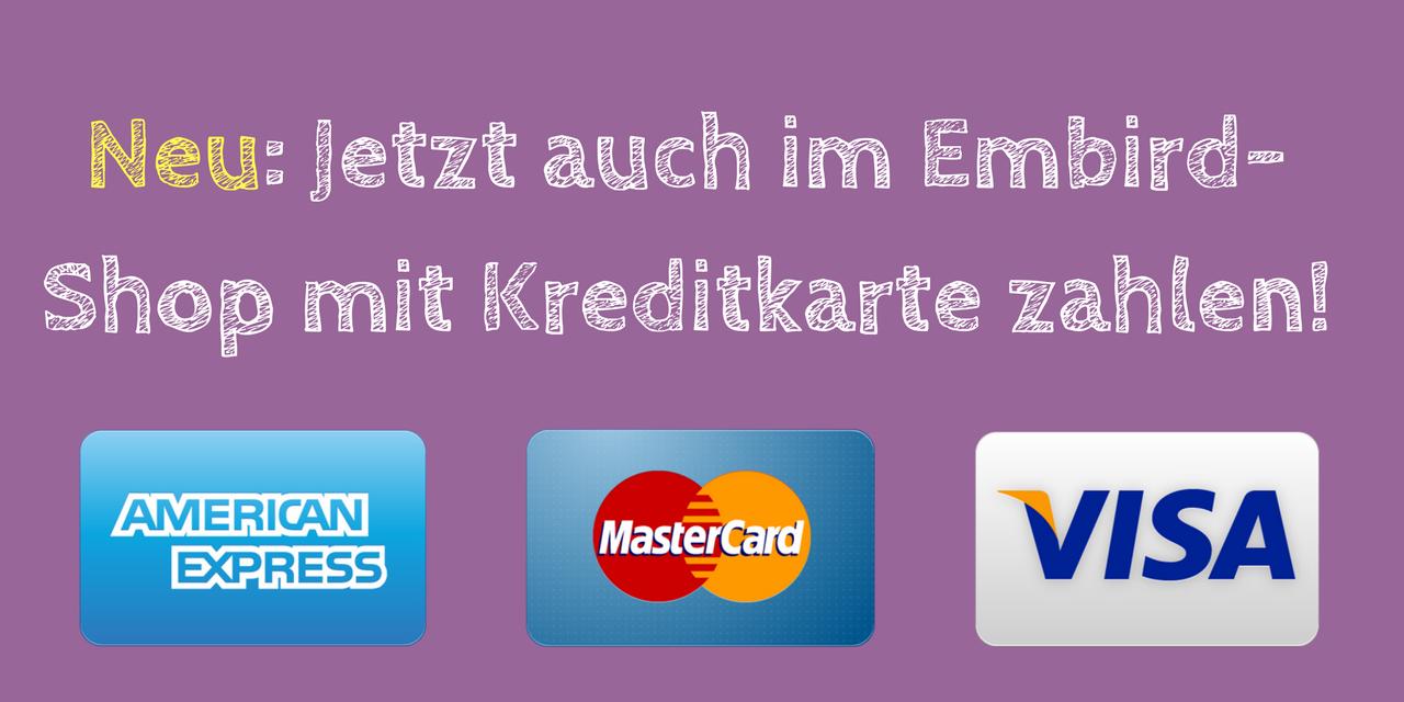 Neu im Shop: Jetzt auch mit Kreditkarte zahlen