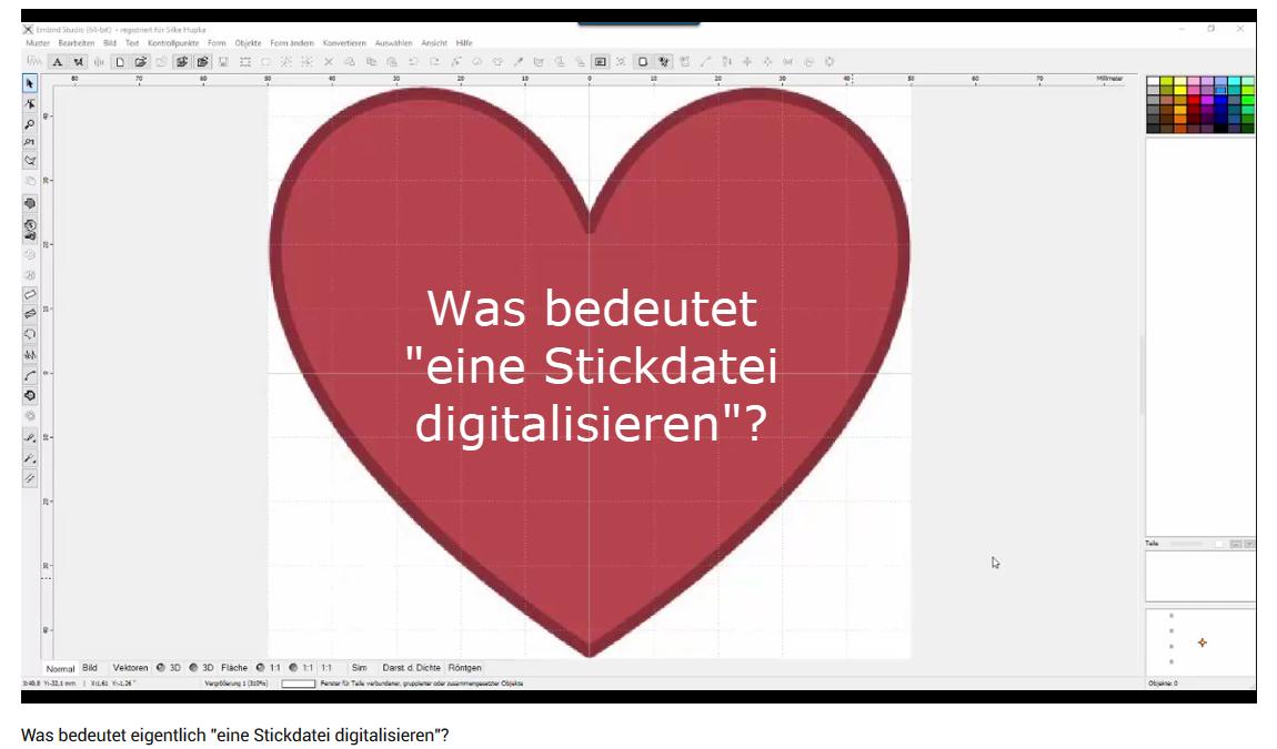 """Was bedeutet """"eine Stickdatei digitalisieren""""?"""