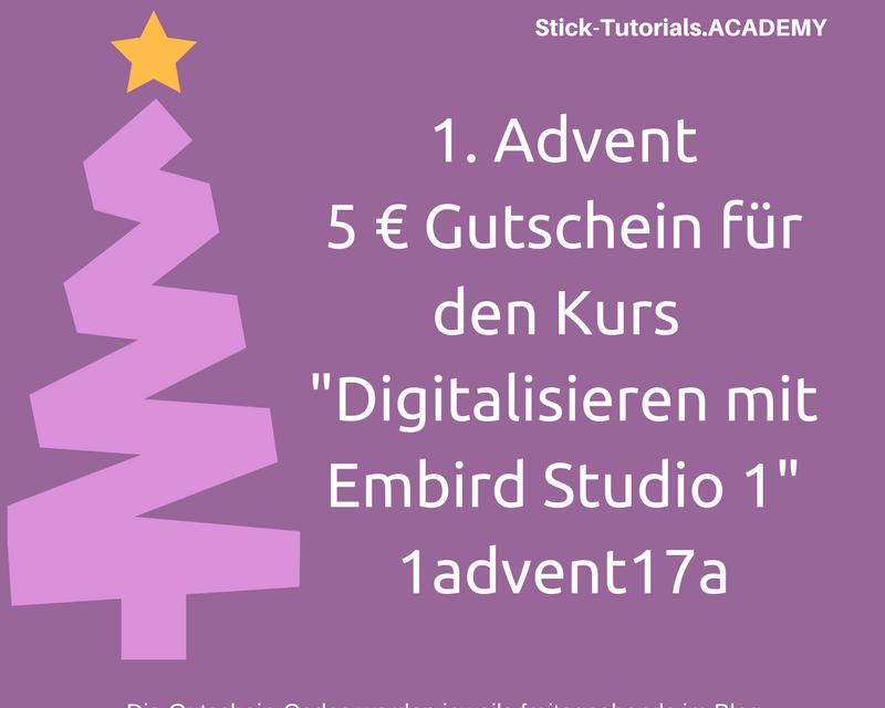 Gutschein 1. Advent für die Academy