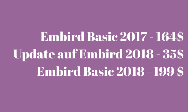 Preise für Embird 2018
