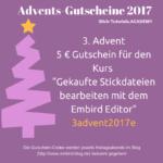 Gutschein 3. Advent für die Academy