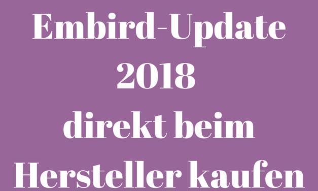 Video: Das Embird Update 2018 direkt beim Hersteller kaufen