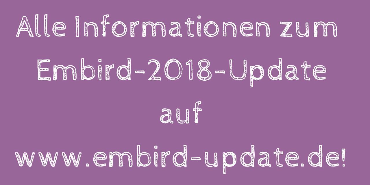 Alle Infos zum Embird-Update 2018