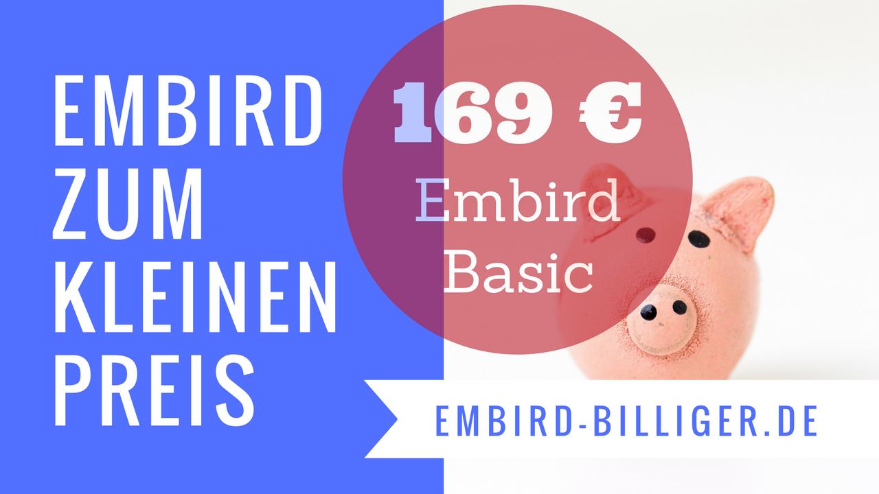 Embird zum kleinen Preis