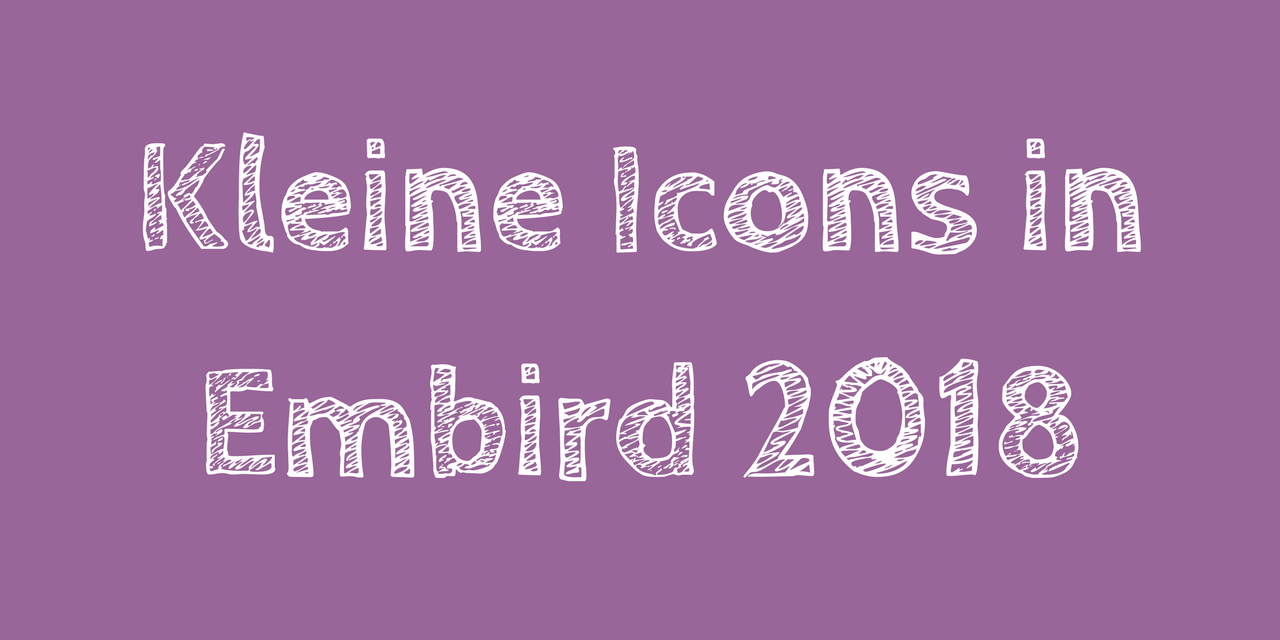 Kleine Icons in Embird 2018