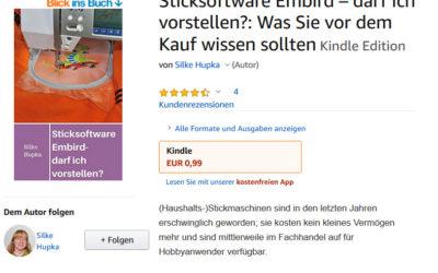 """Neues Kindle Ebook """"Sticksoftware Embird – darf ich vorstellen?"""""""