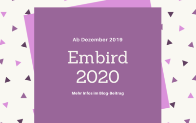 Embird 2020 erscheint Anfang Dezember 2019!