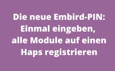 Die neue Embird-Pin