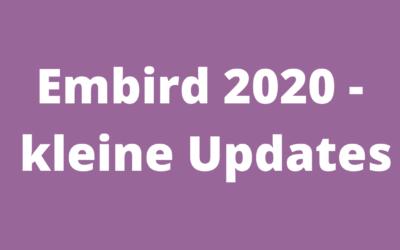 Embird 2020 – kleine Updates